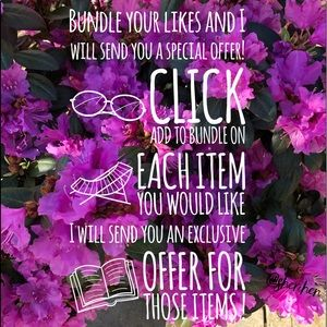 Other - Bundle your❤️likes! DISCOUNTS on items & shipping